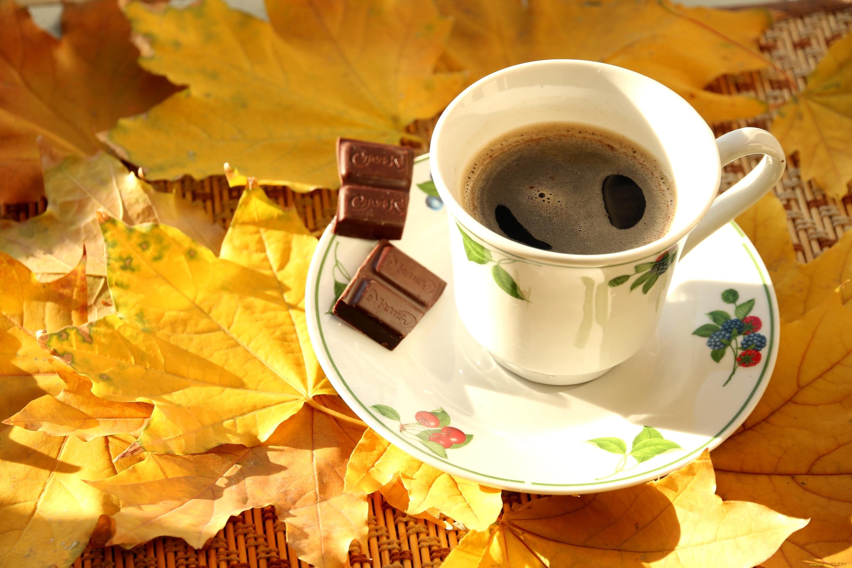 доброе утро осенние картинки с кофе фото видео